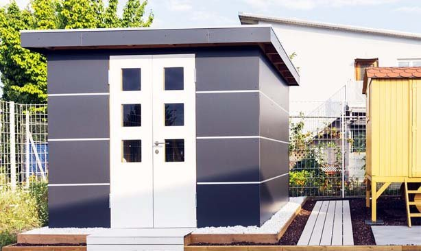 Fassadenplatten Holz holz gartenhäuser mit hpl fassadenplatten hirsch sohn holzhandel